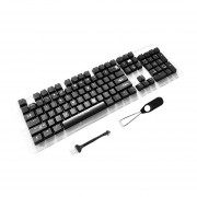 EY 104 teclas Teclado retroiluminado ABS Set de tecla de Mayúsculas para teclados mecánicos-Negro