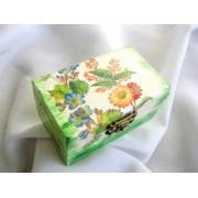 cutie lemn decorata cu servetel lsi pictata 14994