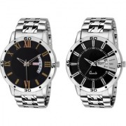 Combo Of 2 Analog Metal Strap Watch - For MenCOMSDD-128