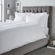 Lenjerie de pat, Dormisete, 2 persoane, Satin Astra, 220 x 280 cm, bumbac, Alb