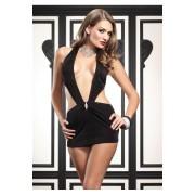 Seksi ves - mini haljina sa brosem od cirkona 86024
