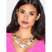 NLY Accessories Open Disc Collar Necklace Halsband Silver