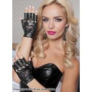 Fingerlösa handskar med hjärtan
