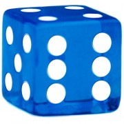 Blue Dice - 19 mm