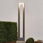 Lampenwelt.com Borne lumineuse LED ultra moderne Jeny gris foncé - LAMPENWELT.com