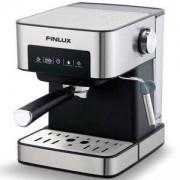 Кафемашина Finlux FEM-1794, Мощност 850 W, 15 бара налягане, Регулируема пара, Филтър за перфектен каймак, Инокс