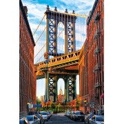 Puzzle Educa - Manhattan Bridge, New York, 1000 piese, include lipici puzzle (17100)