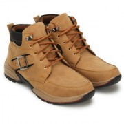Crown Sapphire Casual Boots For Men (Tan 6 UK)