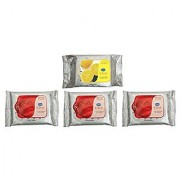 GINNI CLEA WIPES Cleansing Make-up Remover -Lemon pack of 30 Rose pack of 3 10 in each pack Total 60 counts