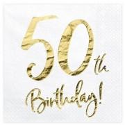Geen Witte servetjes 50e verjaardag 60x