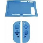 Protectie Dobe Silicon antisoc pentru Nintendo Switch si Joy-Con Albastru