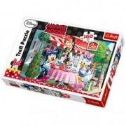 Puzzle Minnie Mouse si Daisy la cofetarie 160 pcs Trefl