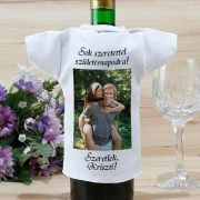 Fényképes borosüveg póló