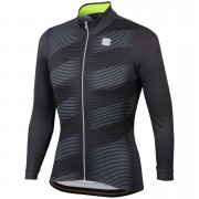 Sportful Moire Jersey - XL - Anthracite/Yellow Fluo