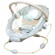 Leagan muzical cu vibratii BR245 Light Grey Baby Mix