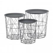 [en.casa] Konferenčné stolíky ABTM-2703 šedé tmavé