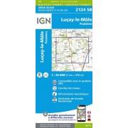 Wandelkaart - Topografische kaart 2124SB Lucay-le-Male, Poulaines | IGN