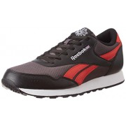 Reebok Classics Men's Classic Protonium Ash Grey, Black and Riot Red Sneakers - 6 UK/India (39 EU) (7 US)