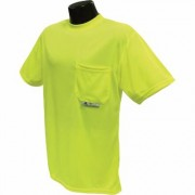 Radians RadWear Men's Non-Rated High Visibility Short Sleeve Safety T-Shirt with Max-Dri - Lime, XL, Model ST11-NPGS, Green