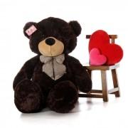 Giant 6 Feet Black Bow Teddy Bear Soft Toy 180 cm