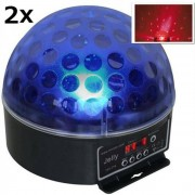 2 x set Beamz Magic Jelly DJ Ball LED-strålkastare RGB DMX