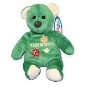 Mary Meyer Vermont Souvenir Plush Green Beanie Bear