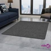 vidaXL Čupavi tepih 80 x 150 cm sivi