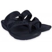 Clarks Wave Bright Black Synthetic Slippers