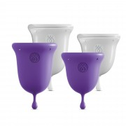 Kit Coupes Menstruelles Intimate Care Menstrual Cups - Couleur : Violet