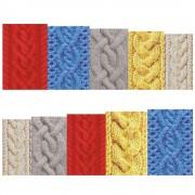 12 Vellen/SetWinter Ontwerpen Trui Materiaal Nail Sticker Kleurrijke Volledige Tips Wraps voor Water Decals BN517-528 Full Beauty