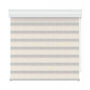 Roljaloezie lichtdoorlatend - witte koof - naturel - 120x250 cm - Leen Bakker