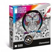 Clementoni 3D Colour Therapy Jigsaw Puzzle Owl (500 pieces)