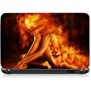 VI Collections Fire Lady Printed Vinyl Laptop Decal 15.5