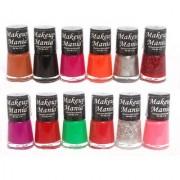 Makeup Mania Exclusive Nail Polish Set Of 12 Pcs (Multicolor Set # 72)