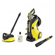 Curatitor cu apa sub presiune Karcher K 5 Premium Full Control Plus Home 13246330, 2100 W, 145 bari, Sistem Quick Connect, cap 3-in-1 Multi Jet, Plug'n' Clean, Home kit, Negru/Galben