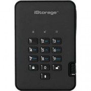 iStorage 1 TB Portable Encrypted Hard Drive diskAshur 2 USB 3.1 Phantom Black