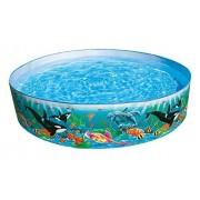"Intex Round 15"" Deep Color Reef Snapset Pool"