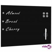 vidaXL Zidna crna magnetna ploča od stakla 80 x 60 cm