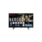 Smart TV LED 32 HD AOC LE32S5970 com Wi-Fi, Botão Netflix, App Gallery, Conversor Digital Integrado, Entradas HDMI e USB
