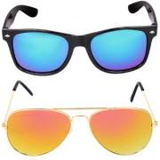 Aligatorr Combo Of 2 Wayfarer Aviator Unisex Sunglasses kc mergylCRLK