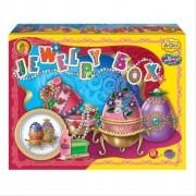 SET CREATIE PENTRU MODELAJ, JEWELRY BOX - ORANGE ELEPHANT (C/JB)