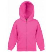 Zip Kids Hooded Sweat Jacket Fuschia