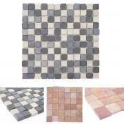 Steinfliesen Vigo T690, Marmor Naturstein-Fliese Quadrate, 11 Stück je 30x30cm = 1qm ~ Variantenangebot