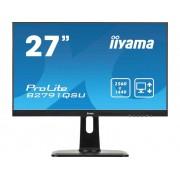 Iiyama B2791QSU-B1 LED-monitor 68.6 cm (27 inch) Energielabel B 2560 x 1440 pix WQHD 1 ms HDMI, DisplayPort, DVI, USB 3.0, Hoofdtelefoon (3.5 mm jackplug) TN