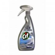 Rozsdamentes acél- és üvegtisztító szer, 750 ml, CIF