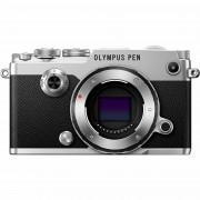 Olympus PEN-F 14-42mm EZ ED Pancake Zoom Silver KIT Mirrorless Micro Four Thirds MFT PEN srebreni digitalni fotoaparat objektiv EZ-M1442EZ incl. Charger Battery V204061SE000 V204061SE000