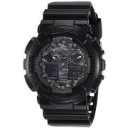 G-Shock World time Analog-Digital Black Dial Mens Watch - GA-100CF-1ADR (G520)