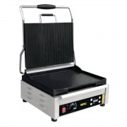 Buffalo Large Single Contact Grill Ribbed Top