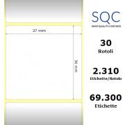 Etichette SQC - Carta termica protetta (bobina), formato 37 x 36