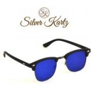 Silver Kartz Wayfarer, Rectangular Sunglasses(Blue)